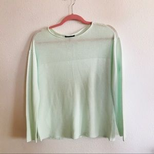 Eileen Fisher Petite Small Tencel Ribbed knit top